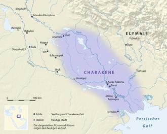 Characene - A map of Characene.