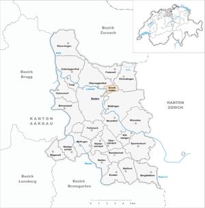Ennetbaden - Image: Karte Gemeinde Ennetbaden 2007
