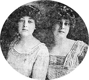 Madeleine Astor - Katherine (left) and Madeleine Force.