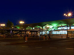Katowice Central Station at night