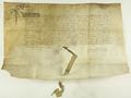 Kazimierz IV Jagiellończyk król polski rozstrzyga spór pomiędzy władzami miasta Poznania i tamtejszymi rzeźnikami, określając dla tych ostatnich dni sprzedaży mięsa..png