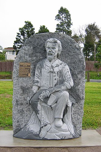 Kendall, New South Wales - Henry Kendall statue in a town park