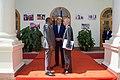 Kenyan President Uhuru Kenyatta Speaks With Secretary Kerry and Ambassador Godec at the State House in Nairobi (29152938055).jpg
