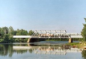 Kiiminkijoki - Image: Kiiminki River railway bridge, Haukipudas, Finland