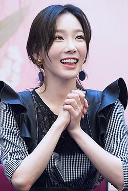 Taeyeon at a fansigning event on April 14, 2017.