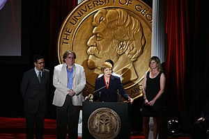 CBS News Sunday Morning - Kimberly Dozier and the crew of CBS Sunday Morning-The Way Home at the 67th Annual Peabody Awards