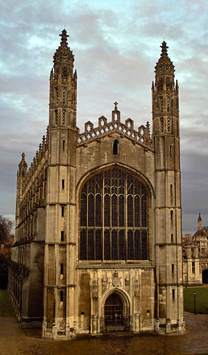 Deering Library - King's College Chapel at Cambridge University, the model for Deering Library.