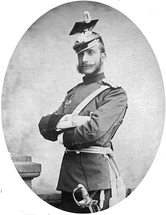 Alfonso XII of Spain - Alfonso photographed in uniform in Bad Homburg vor der Höhe, 1884