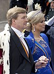 King Willem-Alexander and Queen Maxima on the inauguration 2013 (cropped).jpg