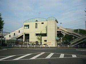Kita-Hachiōji Station - The west side of the station in May 2006