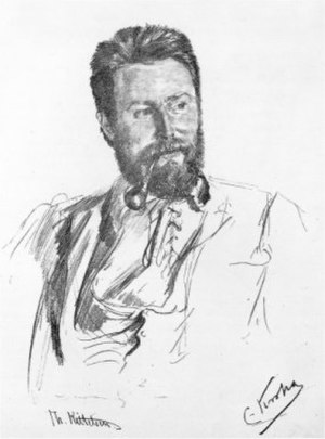 Theodor Kittelsen - Theodor Kittelsen, drawing from 1892 by Christian Krohg.