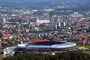 Wörthersee Stadion - Image: Klagenfurt Waidmannsdorf Woerthersee Arena 09092008 55
