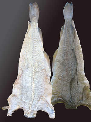 Bacalhau - Salted and dried cod, produced in Norway