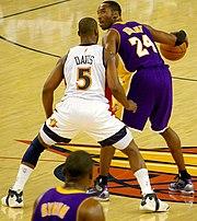 Davis defending Kobe Bryant
