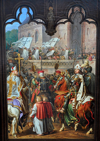 Grand Master of the Teutonic Order - Image: Kolbe 1825 Siegfried von Feuchtwangen enters Malbork castle