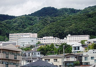 Konan Women's University - A far view from Kōnan-Yamate Station