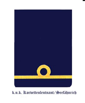 Corvette lieutenant - Insignia of a Seefähnrich also worn by Korvettenleutnants