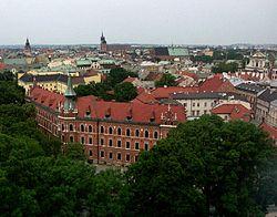 Widok na Stare Miasto ze Wzg�rza Wawelskiego