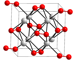 Potassium peroxide - Crystal structure