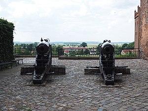 Kwidzyn Castle - Image: Kwidzyn castle's cannons