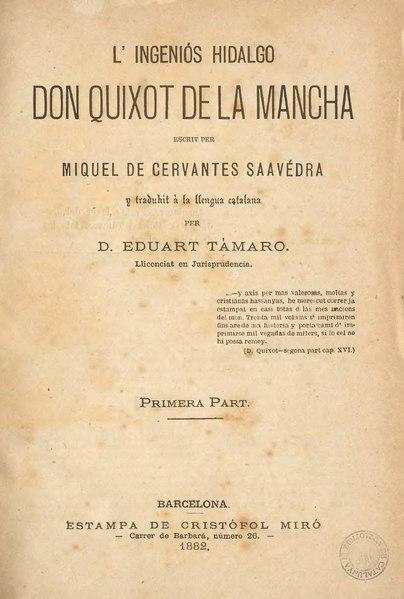 File:L'ingeniós hidalgo Don Quixot de la Mancha (1882).djvu