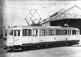La Brugeoise cars (Buenos Aires Underground) -  Car 16 of the first series with its original layout in 1915