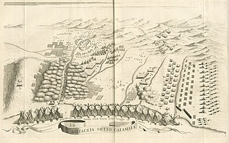 Morean War - The Battle of Kalamata, by Vincenzo Coronelli