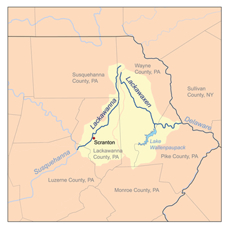 Lackawanna Steel Company - The Lackawanna River and Valley in Pennsylvania in the United States.