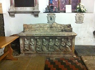 St Peter and St Paul's Church, Shelford - Memorial to Lady Anne Stanhope