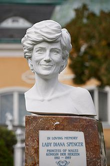 Lady Diana Memorial in the garden of Schloss Cobenzl in Vienna.