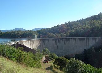 Moogerah Dam - The Moogerah Dam wall, in 2011