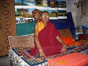 Lhalung Monastery - Image: Lalung Gompa Abbott in his room