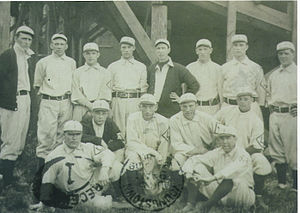 Stan Coveleski - 1909 Lancaster Red Roses; Stan Coveleski is standing fourth from left