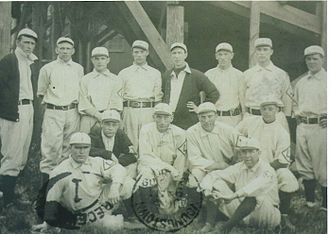 Lancaster Red Roses - 1909, Stan Coveleski standing fourth from left