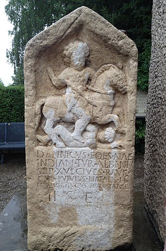 Augusta Raurica - Gravestone from Cirencester for a civis Rauricus.