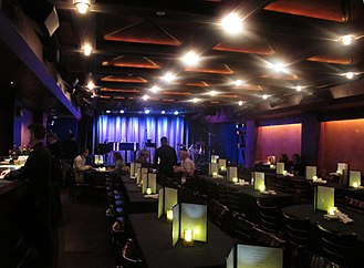 Laurie Beechman Theatre - Interior of the Laurie Beechman Theatre prior to a show on October 9, 2014