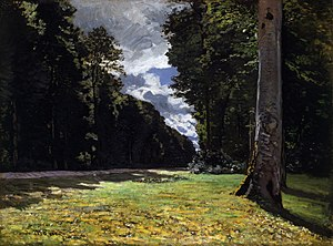 Le Pavé de Chailly in the Forest of Fontainebleau (Monet).jpg