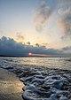 Le coucher du solei sur la plage Boukana.jpg