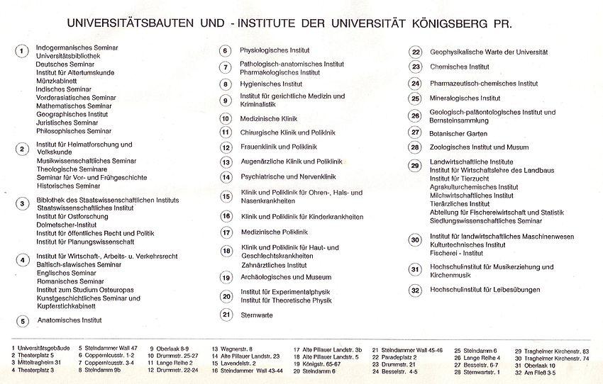 Legende zu Universitätsgebäude Königsberg (1931).JPG
