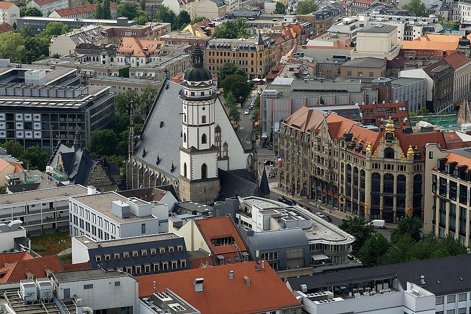 Leipzig Thomaskirche von oben