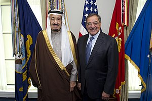 Salman of Saudi Arabia - US Secretary of Defense Leon Panetta with Salman at the Pentagon in April 2012