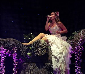 Leona Lewis discography - Leona Lewis performing on The Labyrinth tour in 2010.