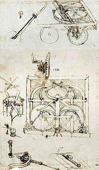 Self Propelled Cart >> Leonardo's self-propelled cart - Wikipedia