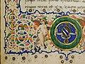 Leonardo bruni, traduzione della poetica di aristotele, firenze 1471 (bml, pluteo 79.24) 05 putto e stemma sassetti.jpg