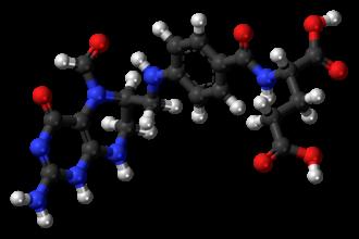 Folinic acid - Image: Leucovorin molecule ball