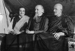 Li Gotami Govinda - Li Gotami, Govinda, and Nyanaponika Thera in the late 1960s or early 1970s. Probably taken in Germany or Switzerland.