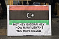 """Libyans Protesting In Dublin - """"How Many Libyans Have You Killed"""".jpg"""