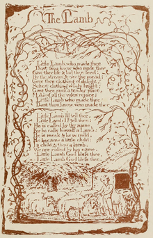 Life of William Blake (1880), Volume 1, Songs of Innocence - The Lamb.png