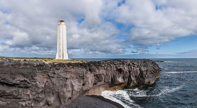 File:Lighthouse Malarrif at Snæfellsnes peninsula.jpg