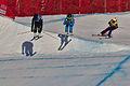 Lillehammer 2016 - Ladies Ski Cross - Abigail Zagnoli, Dana Vovk and Klara Kasparova.jpg